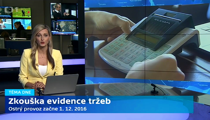 Pokladna EURO 50TE i objevila i v reportáži České televize.