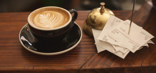 káva a účtenky