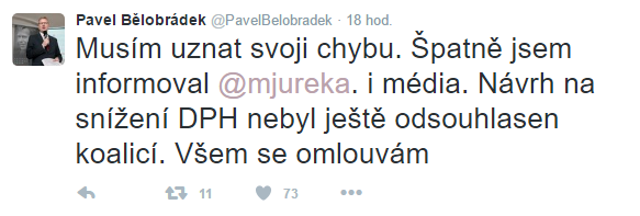 Pod nickem @mjureka na Twitteru vystupuje ministr Jurečka.