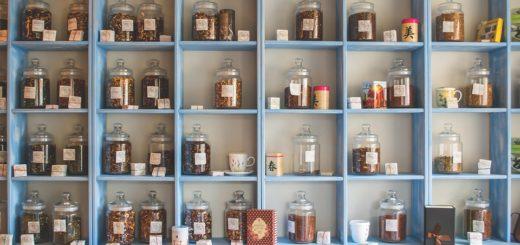 obchod s čaji