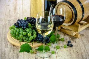 sklenky vína