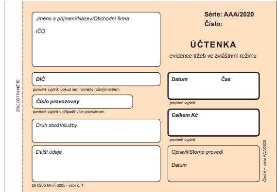 off-line EET účtenka