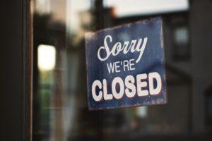 zavřený obchod